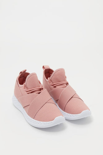 Knit Elasticband Sneaker - Pink
