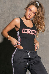 'Be You' Sleeveless Bodysuit