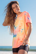 Soft Oversized 'Good Vibes' T-Shirt - Tie Dye