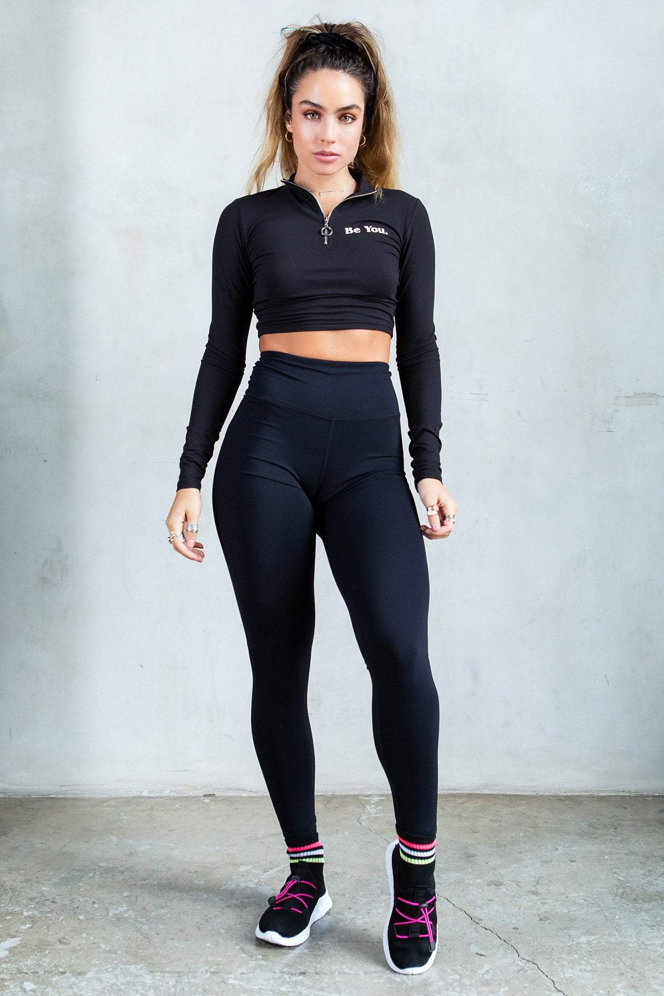 Back-Pocket Active Butt Lift Leggings - Black