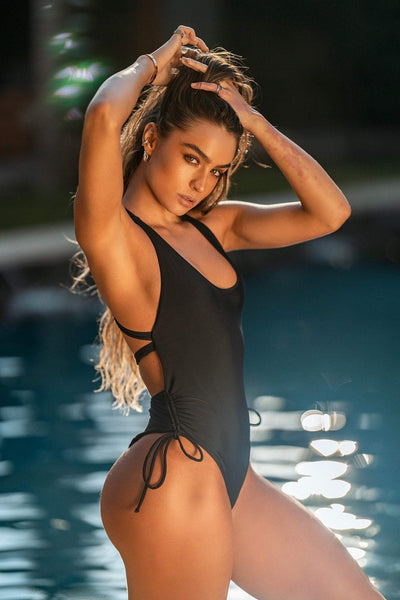 Sommer Ray - Black One Piece Swimsuit
