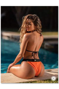 Sommer Ray Poster - Orange Bikini Back View