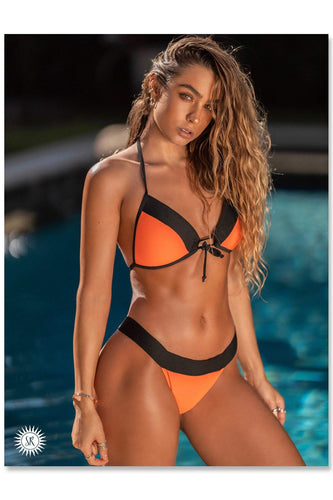 Sommer Ray Poster - Orange Bikini Front View
