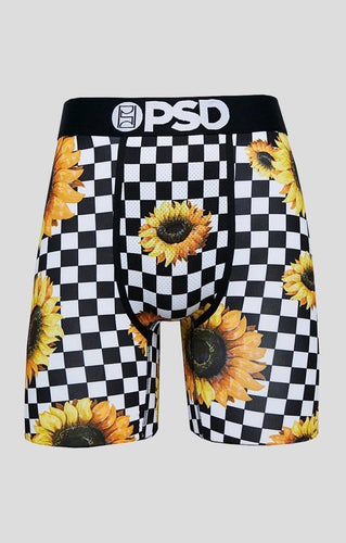 Checker Sunflower Men's Boxer Briefs - PSD Underwear