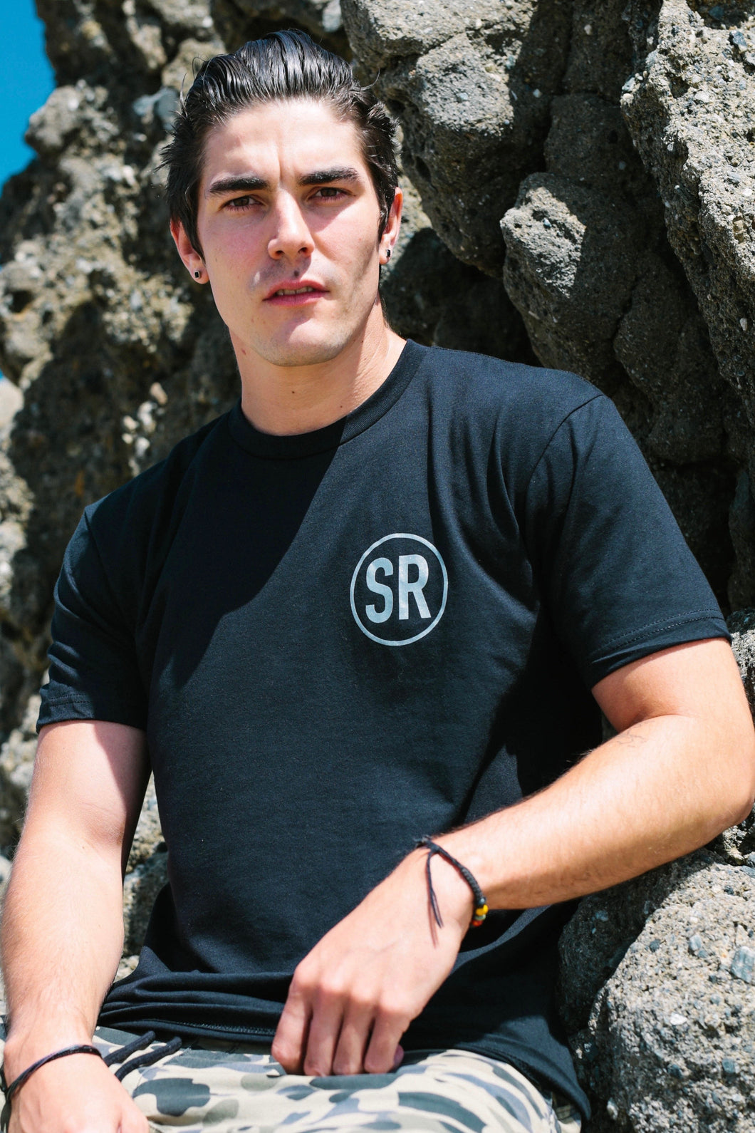 Men's SR Logo Short Sleeve T-Shirt - Black