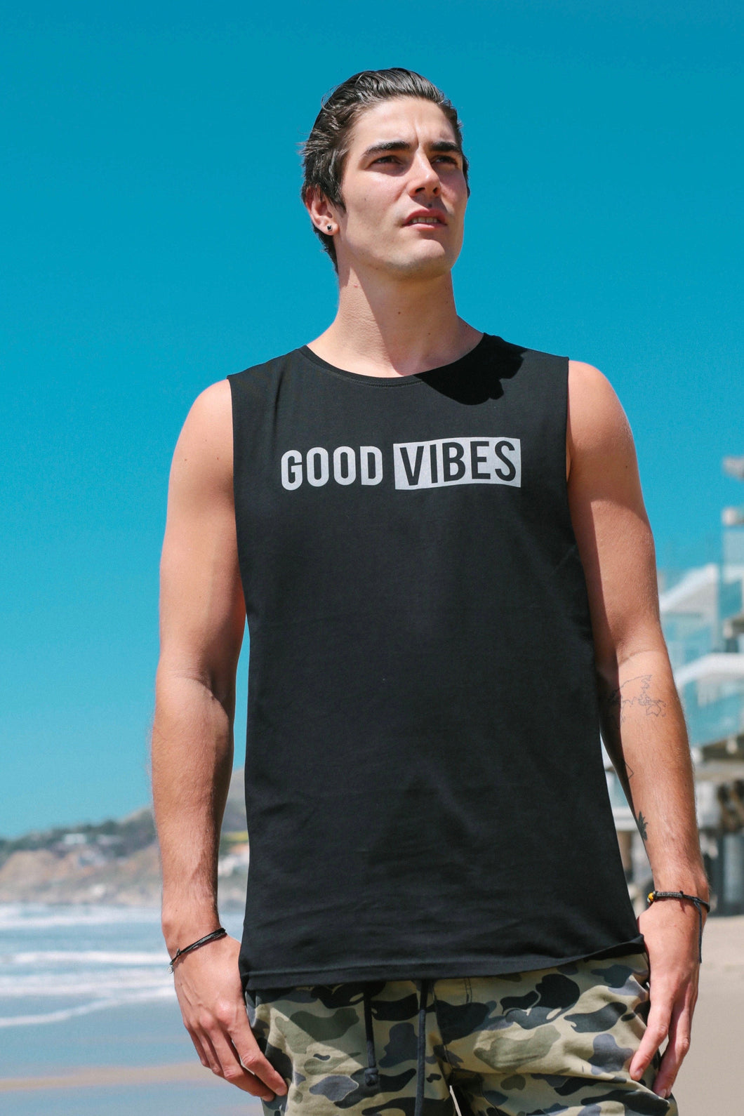 Men's Good Vibes Tank - Black