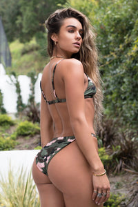 Skinny High Cut Bikini Bottom - Camouflage