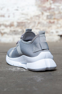 Pull Cord Knit Sneakers - Grey