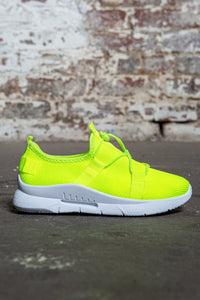 Pull Cord Knit Sneakers - Neon Green