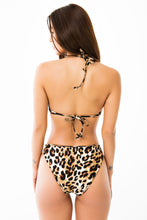 Cut Out Bikini Bottom - Cheetah