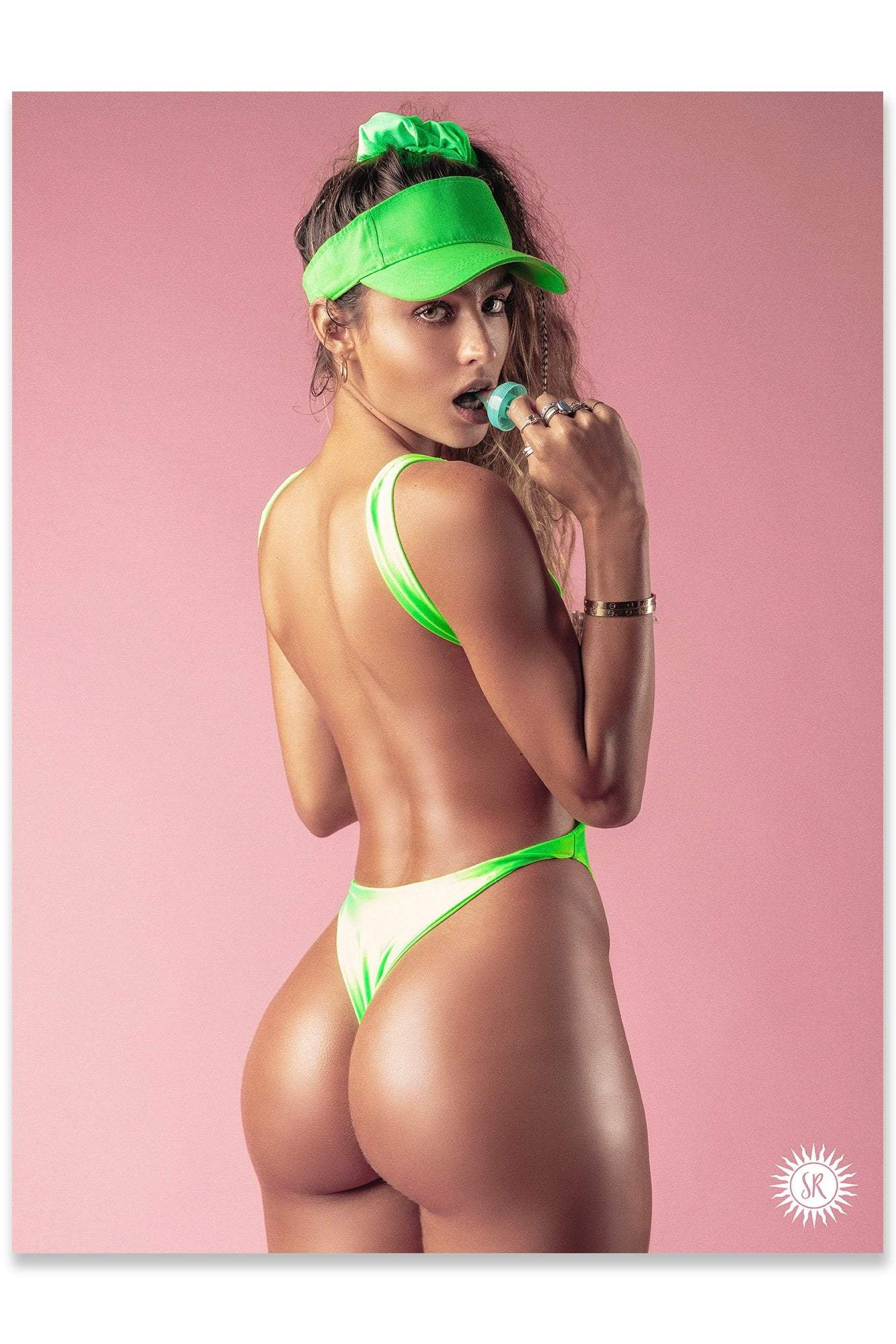 Sommer Ray Poster - Green Back View