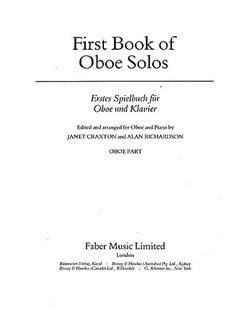 First Book Of Oboe Solos (Oboe Part)
