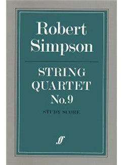 Robert Simpson: String Quartet No.9 (Study Partitura)