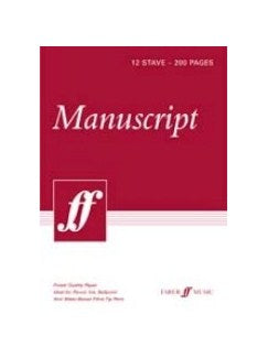 Manuscript Paper A4 12-Stave - 200 Pages White