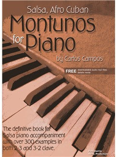 Salsa Afro Cuban Montunos For Piano (Book/Online Audio)