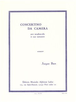 Jacques Ibert: Concertino Da Camera (Alto Saxofon/Piano)