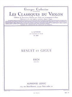 Georges Catherine: Vioara Classics - Menuet And Gigue By J.S. Bach