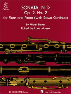 Michel Blavet: Sonata In D Minor For Flute And Piano