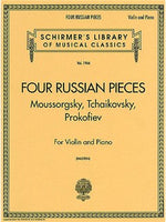 Four Russian Pieces For Vioara And Piano