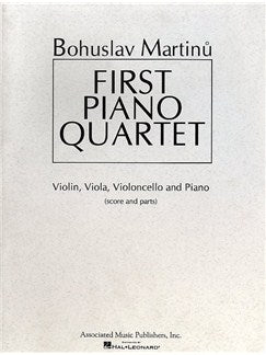 Bohuslav Martinu: First Piano Quartet (Partitura/Parts)