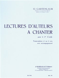 Gartenlaub Lectures D'auteurs A Chanter Cycle 1 1 Or 2 Voces Book