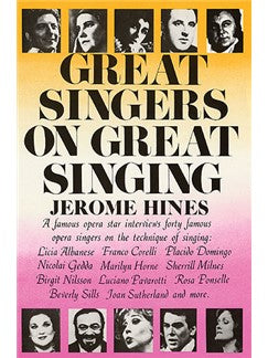 Jerome Hines: Great Singers On Great Singing
