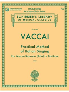 Practical Method Of Italian Singing: For Mezzo-Soprano (Alto) Or Baritone (Book/Online Audio)