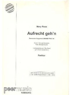 Mary Roos: Aufrecht Geh'n (Big Band)