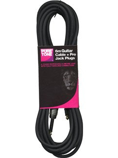 Pure Tone: 20' Guitar Cable - Black