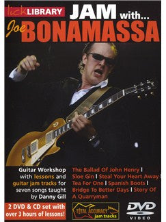 Lick Library: Jam With Joe Bonamassa (2 DVD & CD Set)