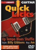 Lick Library: Quick Licks - Billy Gibbons Up-Tempo Blues