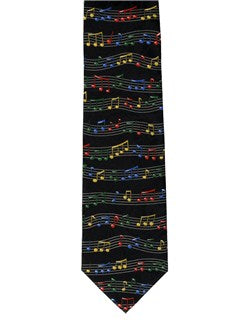 Polyester Tie: Notes And Staves