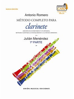 Julián Menéndez: Método Completo Para Clarinete De Antonio Romero - Part 1 (Book/Download Card)