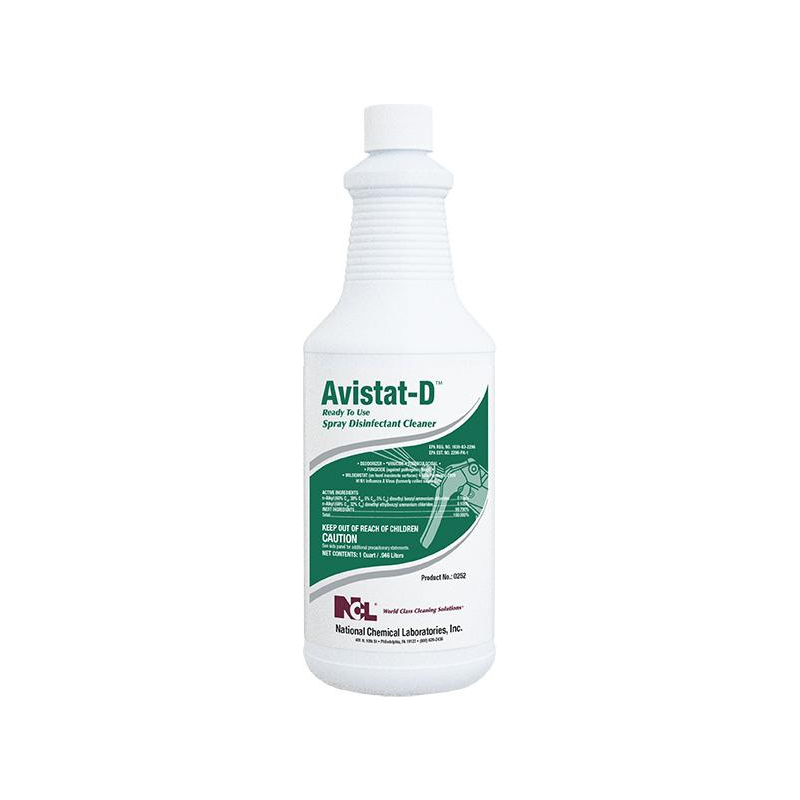Avistat-D Ready-To-Use Spray Disinfectant Cleaner, 32 oz (Carton of 12) Currently a two week lead time for this product