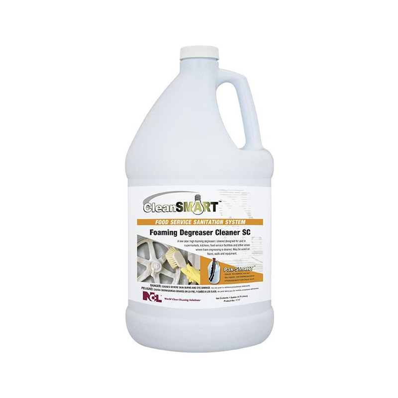 CleanSmart Foaming Degreaser Cleaner SC, 1 gal (Carton of 4)