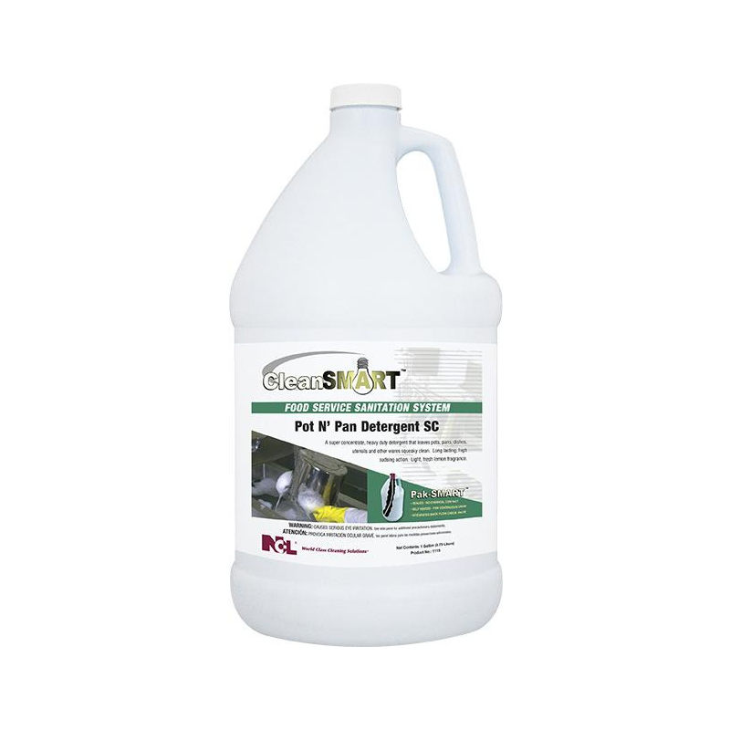 CleanSmart Pot n' Pan Detergent SC, 1 gal (Carton of 4)