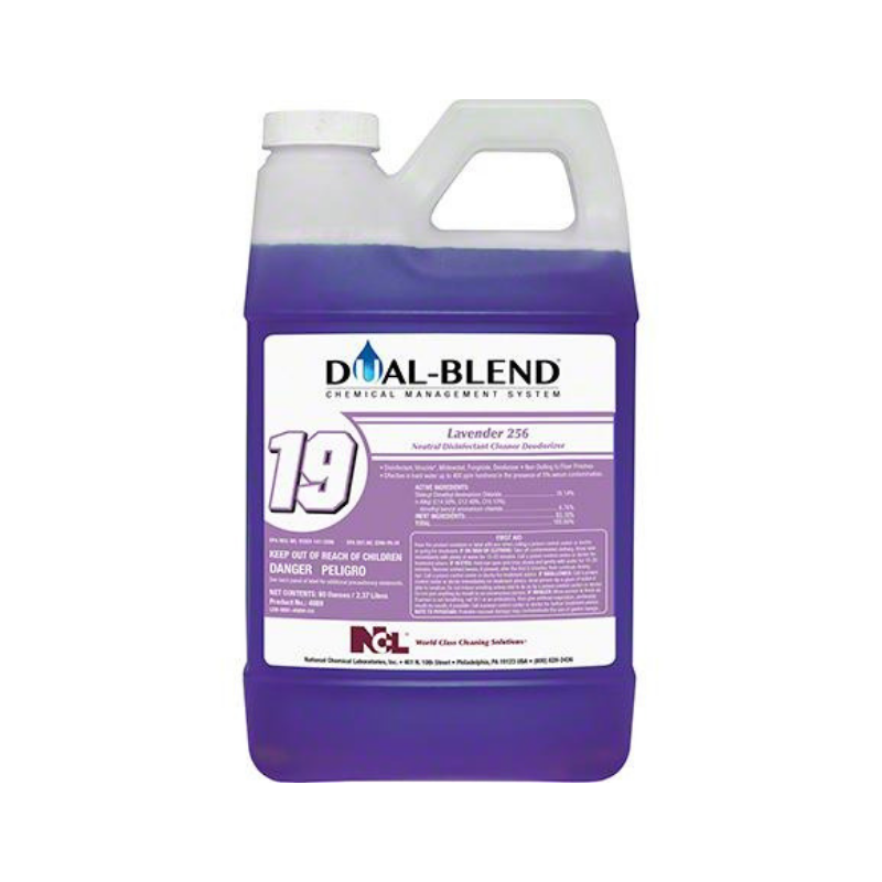 Dual-Blend #19 LAVENDER 256 DISINFECTANT, 80 oz. (Carton of 4)