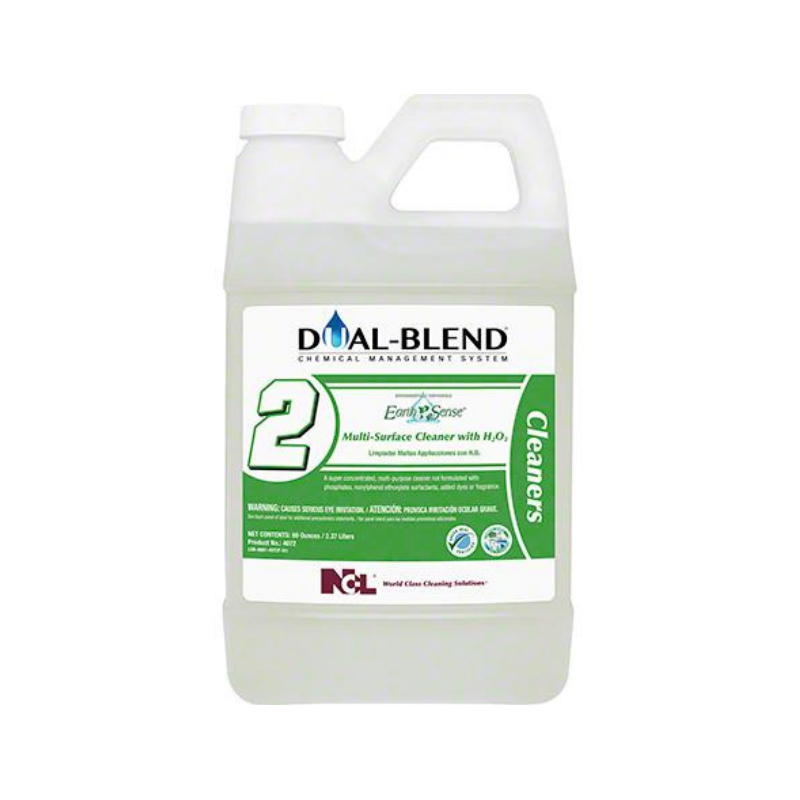 Dual-Blend #2 Earth Sense® Multi-Surface Cleaner with H2O2 Super Concentrate, 80 oz. (Carton of 4)