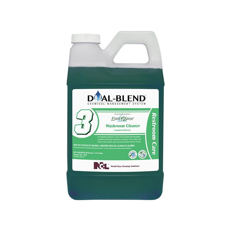 Dual-Blend #3 Earth Sense® Washroom Cleaner, 80 oz. (Carton of 4)