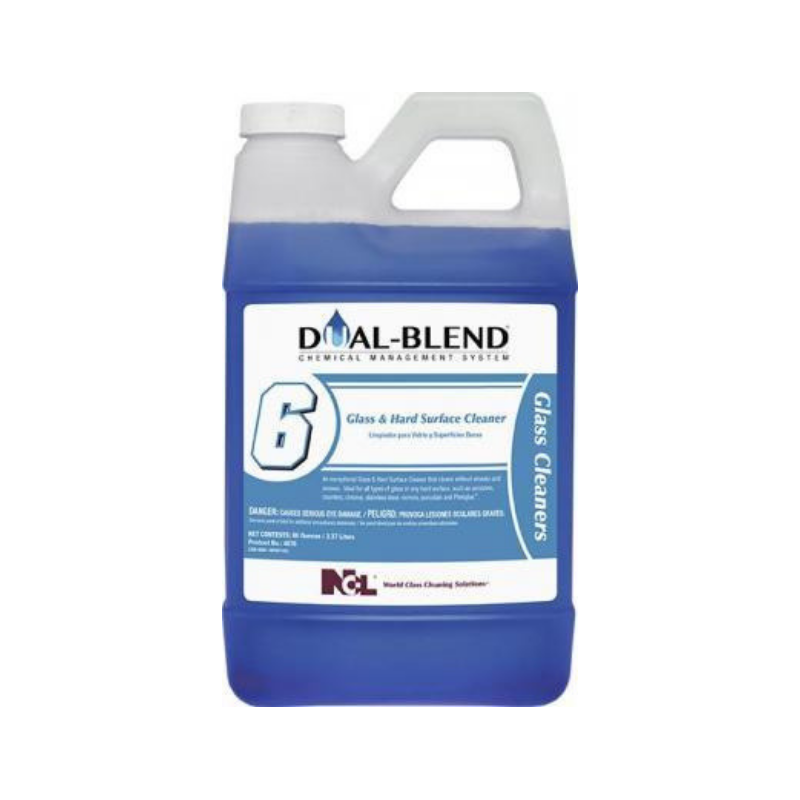 Dual-Blend #6 Glass & Hard Surface Cleaner, 80 oz. (Carton of 4)
