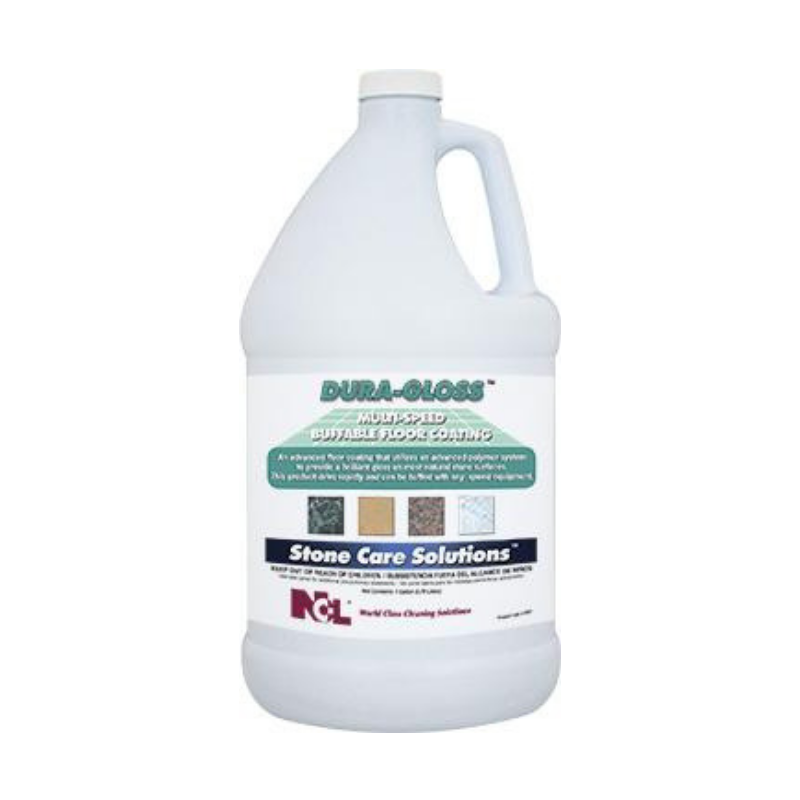 Dura-Gloss Multi-Speed Buffable Floor Coating, 1 gal (Carton of 4)