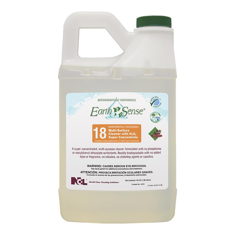 Earth Sense® #18 Multi-Surface Cleaner With H2O2 Super Concentrate, 64 oz (Carton of 6)