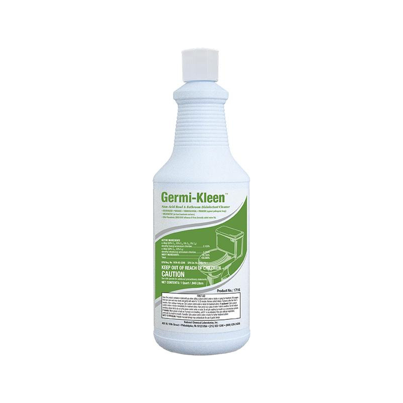 Germi-Kleen Non-Acid Bowl & Bathroom Disinfectant Cleaner, 32 oz (Carton of 12)