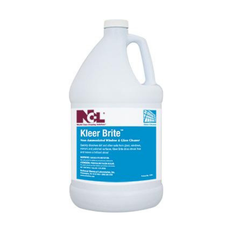 Kleer Brite Non-Ammoniated Window & Glass Cleaner, 1 gal (Carton of 4)