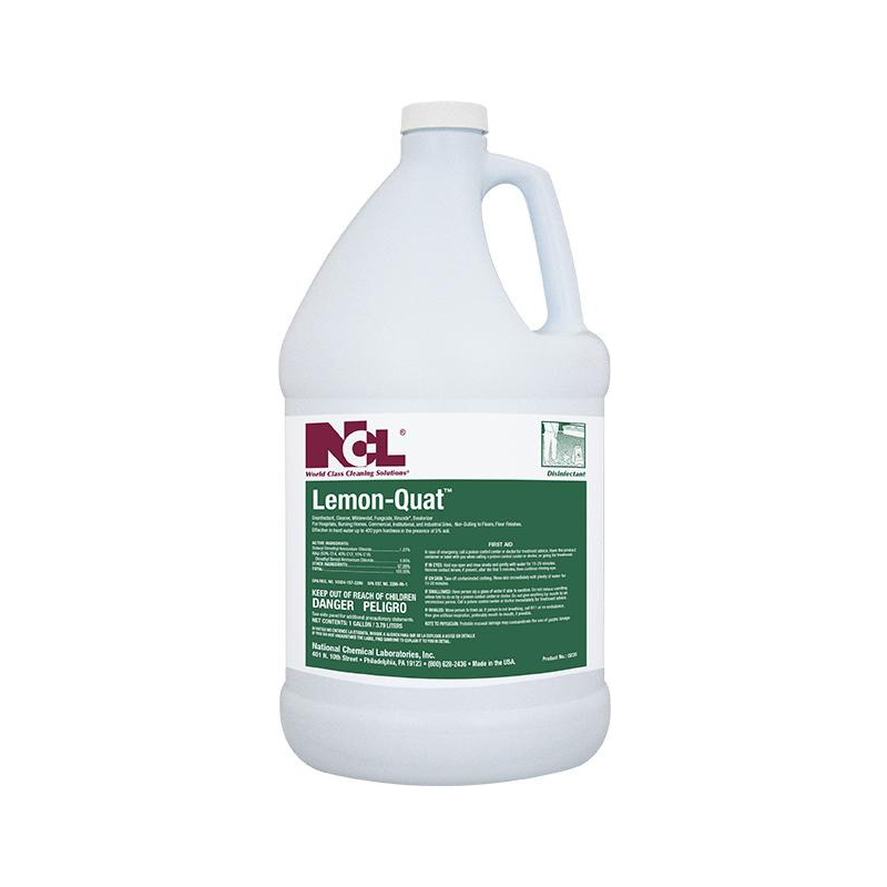 Lemon-Quat Disinfectant Cleaner, 1 Gal (Carton of 4) All NCL products are on a 2 week lead time