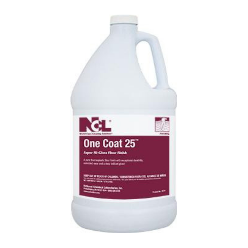 One Coat 25 Super High Gloss Floor Finish, 1 gal (Carton of 4)
