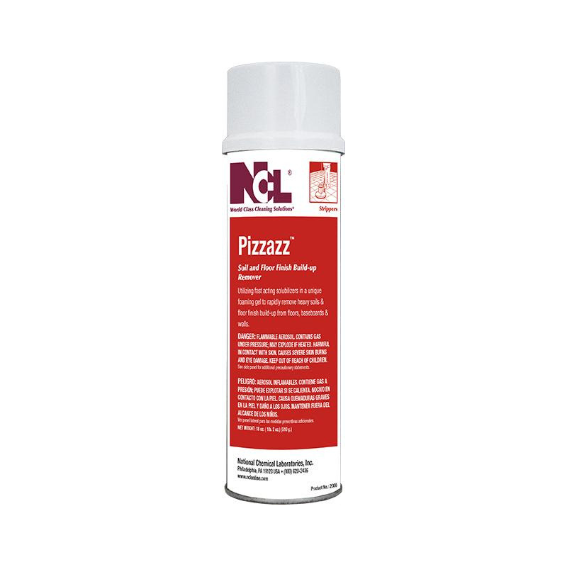 Pizazz Soil & Floor Finish Build-Up Remover, aerosol (Carton of 12)