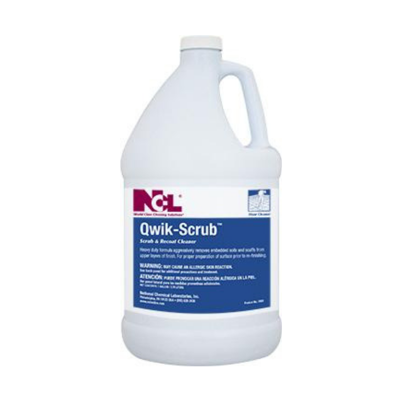 Qwik-Scrub Scrub & Recoat Cleaner, 1 gal (Carton of 4)