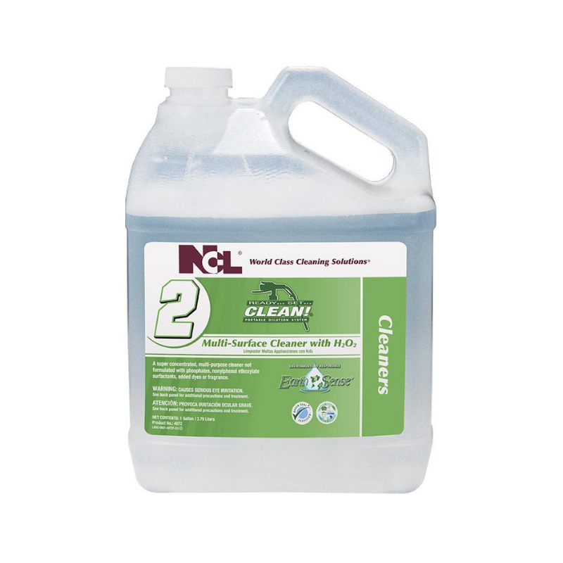 RSC #2 Earth Sense® Multi-Surface Cleaner with H2O2 Super Concentrate, 1 gal (Carton of 4)