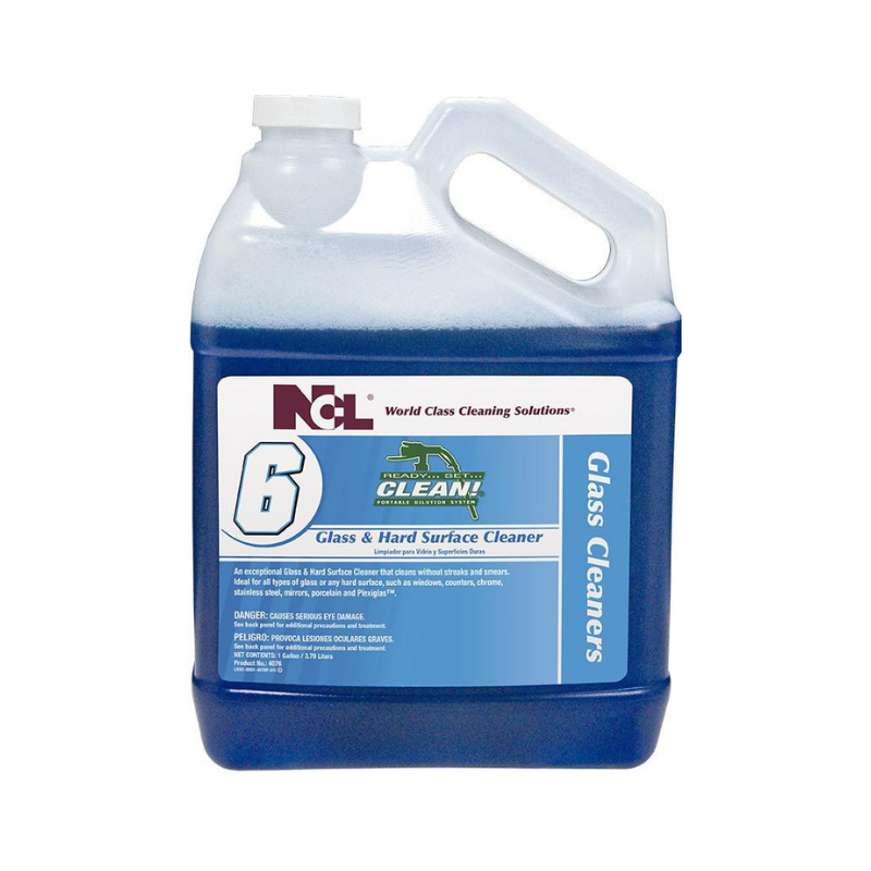 RSC #6 Glass & Hard Surface Cleaner, 1 gal (Carton of 4)